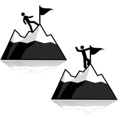 Climbing icons vector image