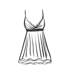 doodle gown vector image