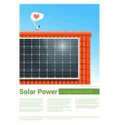 energy concept background with solar panel 7 vector image