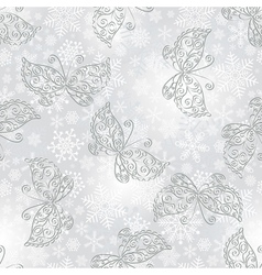 Winter seamless silvery spotty pattern vector image vector image