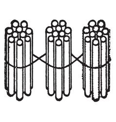 3 bundles ten sticks vintage vector