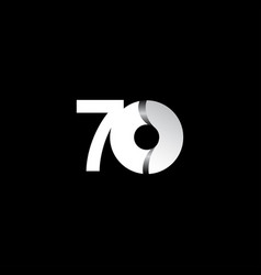 70 years anniversary celebration white circle vector