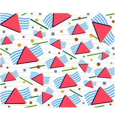 80s triangles with lines and dots background vector image
