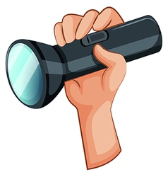 A hand with a flashlight vector image