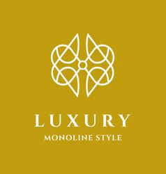 abstract luxury symbol logo vector image