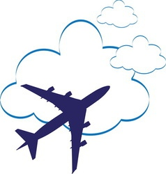 airplane3 vector image