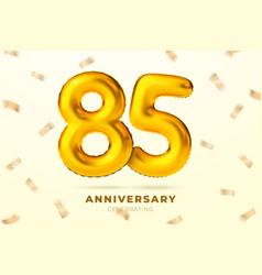 anniversary golden balloons number 85 vector image