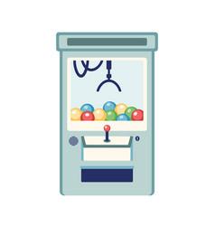 arcade game machine flat claw vector image