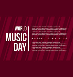 Background style music day flat vector