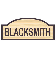 Blacksmith store sign vector