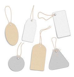 blank price tags or empty labels set realistic vector image
