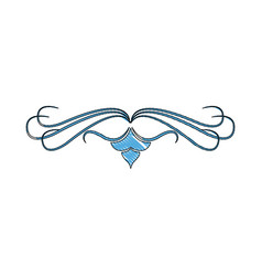 blue floral swirl ornate vignette image vector image