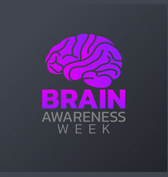 brain awareness week icon design infographic vector image