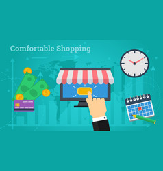 Business banner - comfortable shopping vector
