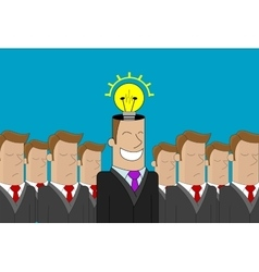 Business man idea vector