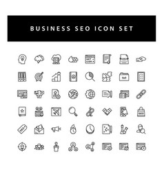 business seo icon set with black color outline vector image