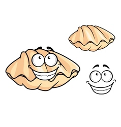 Cartoon clam shell or musse vector