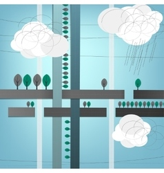 Cell abstract roads vector