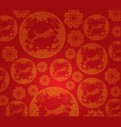 Chinese new year dog pattern background vector