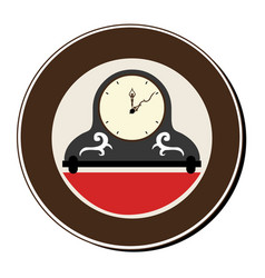 Circular frame with vintage clock vector