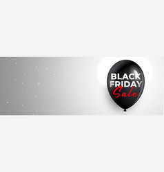 Clean black friday sale banner with text space vector