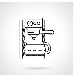 Coffeemaker black line icon vector image