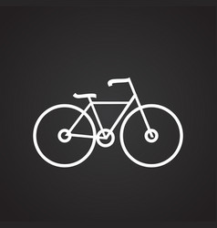 cycling bicycle thin line on black background vector image