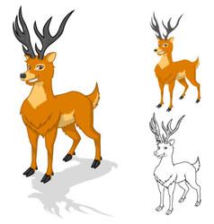 Deer cartoon character vector