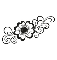 Doodling flower in tattoo style vector image