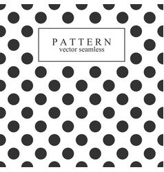 elegant dotted seamless pattern vector image