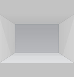 empty show room with square corner vector image