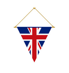 english triangle flag hanging vector image