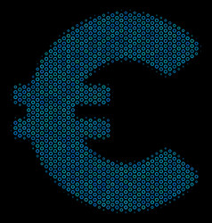 euro composition icon of halftone spheres vector image