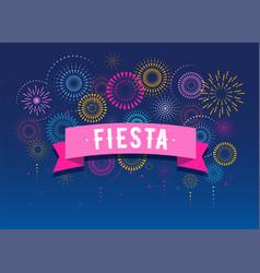 fiesta fireworks and celebration poster design vector image