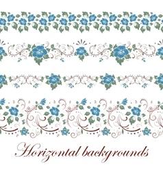 Floral seamless border vector image