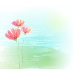 Flower retro grunge background vector image