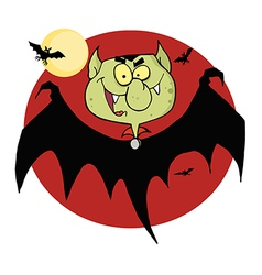Flying Vampire By Bats And A Full Moon vector