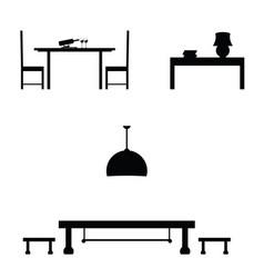 Furniture black set vector
