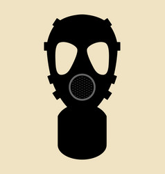 gas mask pictograph vector image