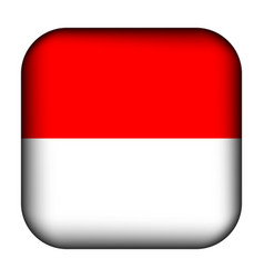 Glass light ball with flag indonesia squared vector