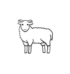 goat hand drawn sketch icon vector image