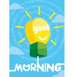 Good morning greeting card poster print vector