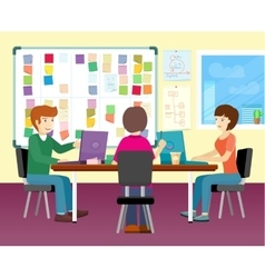 Group of People Working in Office vector
