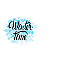Hello winter season text banner abstract white vector