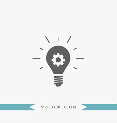 idea bulb icon simple gear vector image