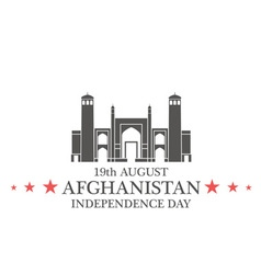 Independence day afghanistan vector