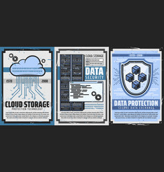 Internet data protection and cloud storage vector