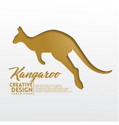 kangaroo geometric paper craft style vector image