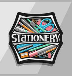 Logo for office stationery vector