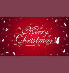 merry christmas banner poster template vector image